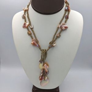 ✨3 for 25✨ Sonoma Coral Wooden Bead Necklace Set